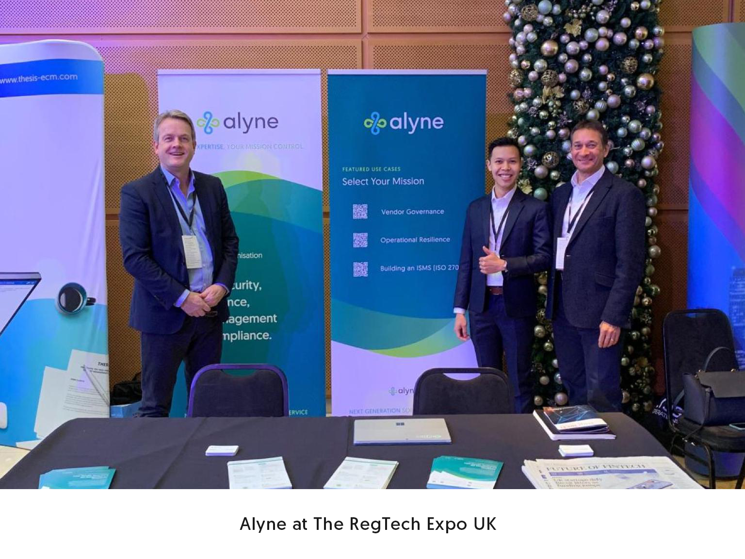 Alyne at The RegTech Expo UK