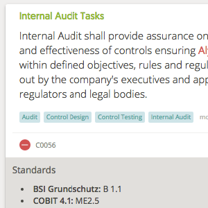 One-click actions on Assessments/ Control Sets - internal audit tasks