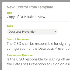 new data lass prevention control from template