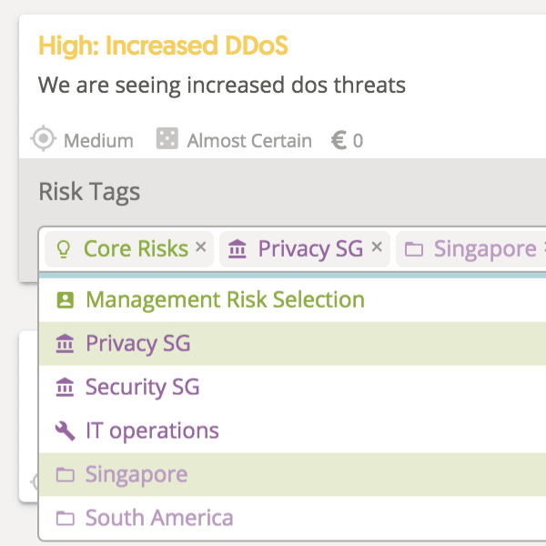 Risk Tag Updates