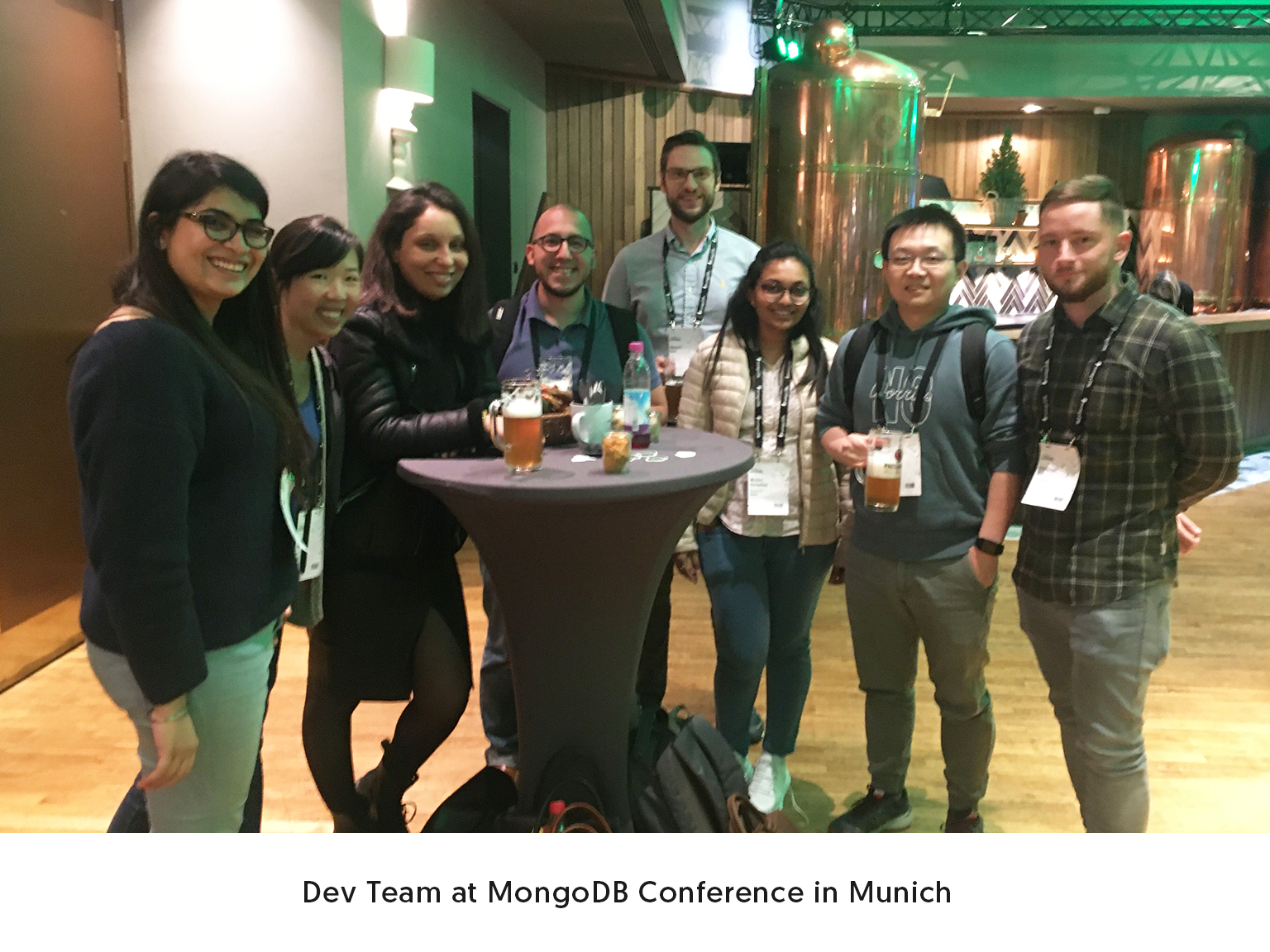 Dev Team at MongoDB Conference in Munich